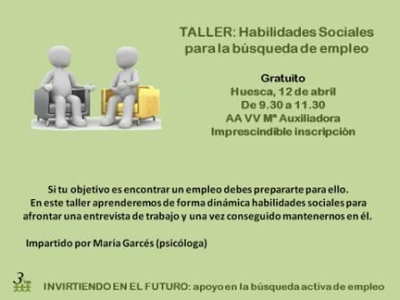 Taller: Habilidades Sociales para la búsqueda de empleo