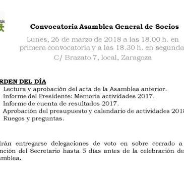 Convocatoria Asamblea General de Socios