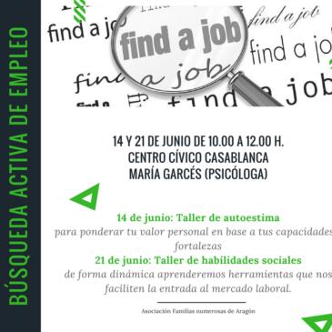 14 y 21 de junio talleres gratuitos para la búsqueda activa de empleo