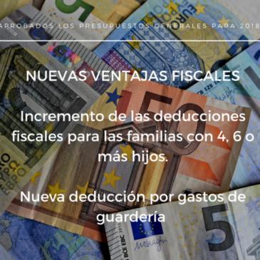 Mejoras fiscales para las familias numerosas