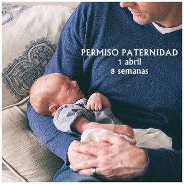A partir del 1 de abril el permiso de paternidad será de 8 semanas