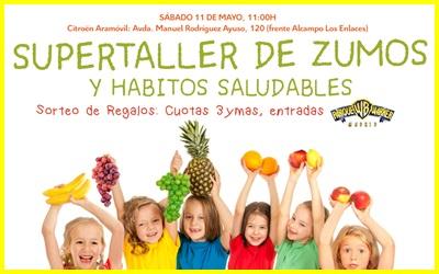Citroën Aramóvil y 3ymás os invitan al «Taller infantil de zumos y hábitos saludables»