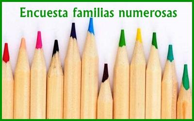 Participa en la encuesta de familias numerosas, ayúdanos a saber qué necesitan