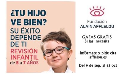Revisión visual gratuita a niños entre 5 y 7 años en Alain Afflelou