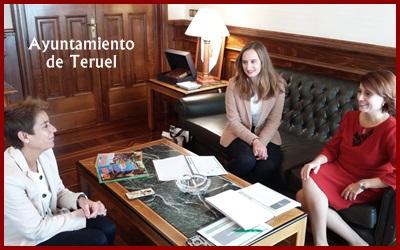 Nos hemos reunido con la Alcaldesa de Teruel