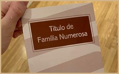Si tu título de familia numerosa caduca estos días sigue en vigor hasta que termine el Estado de Alarma