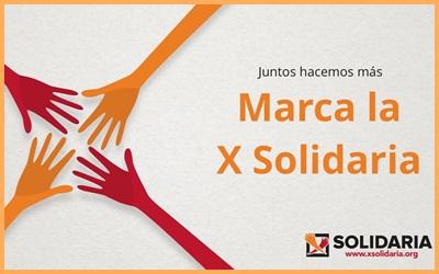 No olvides marcar la X solidaria en tu declaración de la renta