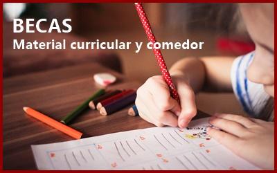 Becas material y comedor curso 2020-2021 Gobierno de Aragón