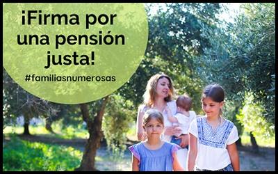 Firma por una pensión justa para las familias numerosas