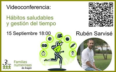 Videoconferencia: Hábitos saludables y gestión del tiempo